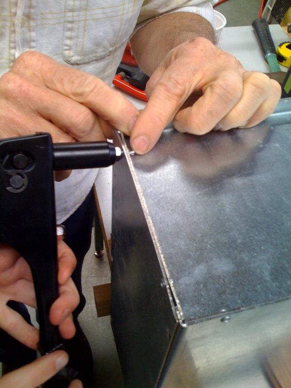 Replacing a pop rivet